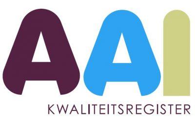 AAI Kwaliteitsregister: laatste nieuws!